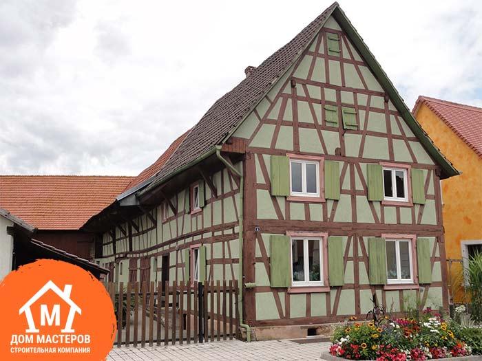 Каркасный дом в стиле фахтверк