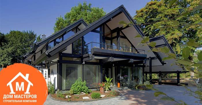 каркасный дом немецкий стиль