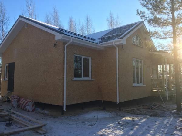 Снегозадержатели на одноэтажном дома