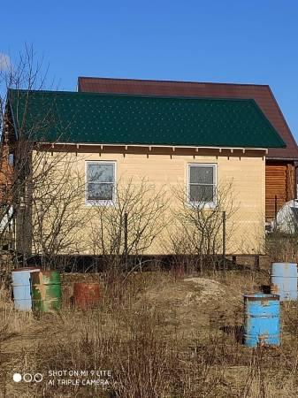 Задний фасад каркасного дома