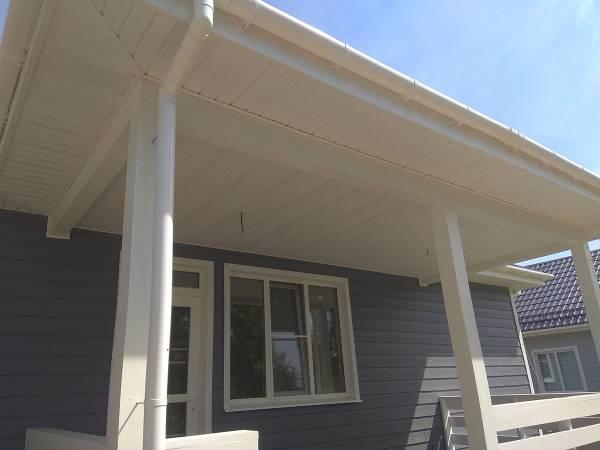 Подшивка потолка террасы и крыльца