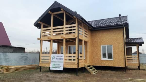 Каркасный дом с мансардным этажом в базовой комплектации