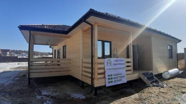 Одноэтажный каркасный дом, утепление 200мм