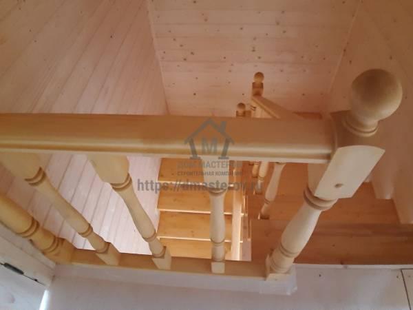 монтаж чистовой межэтажной лестницы
