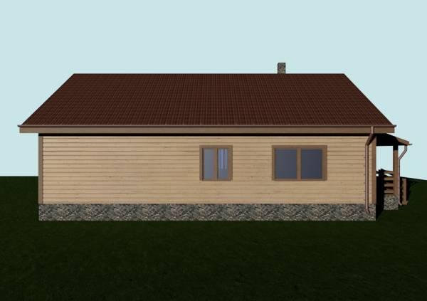 Вид с боку дома по проекту Бронницы