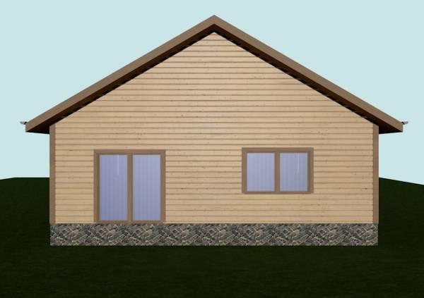 Основной фасад проекта дома Бронницы