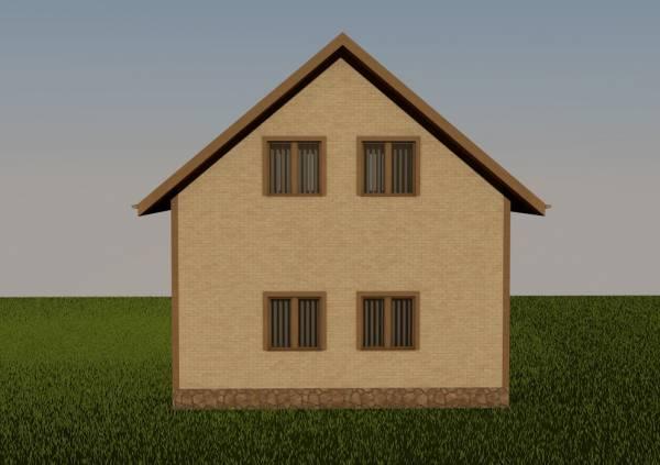 Основной фасад проекта Волоколамск строительство дома