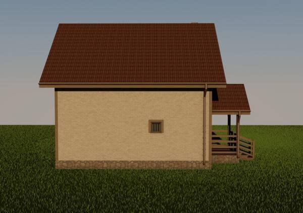Северная часть дома проекта Волоколамск