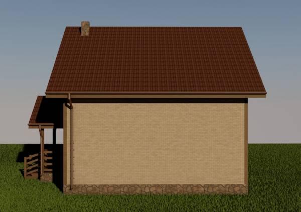 Чистая стена дома по проекту Волоколамск