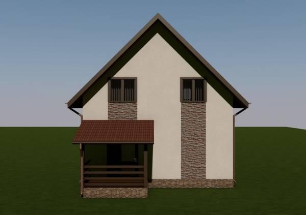 Вид на террасу проекта Домодедово строим качественно.