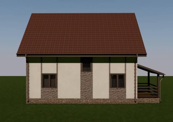 Вид проекта дома название Домодедово строим дешево.