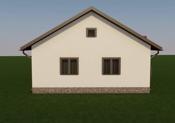 Вид на фасад проекта Заворово дачный дом