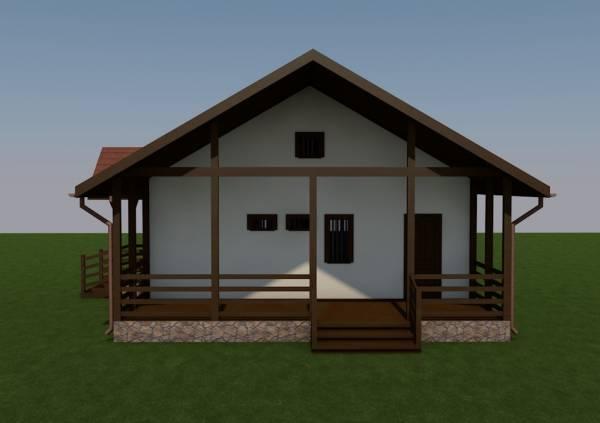 Вид на террасу проекта дома Заворово