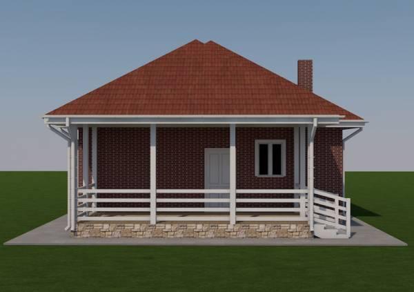 Вид на террасу проекта Зарайск строим качественно с гарантией