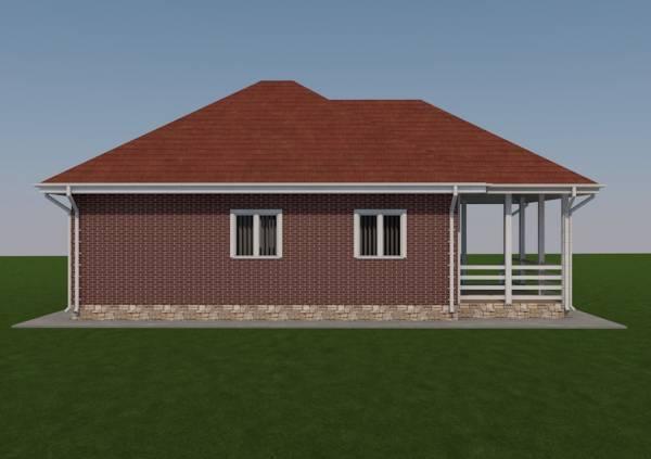 Вид сбоку на дачный дом проекта Зарайск