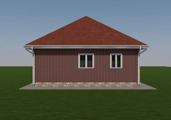 Вид фасада дачного дома по проекту строительной компании дом Мастеров проект Зарайск