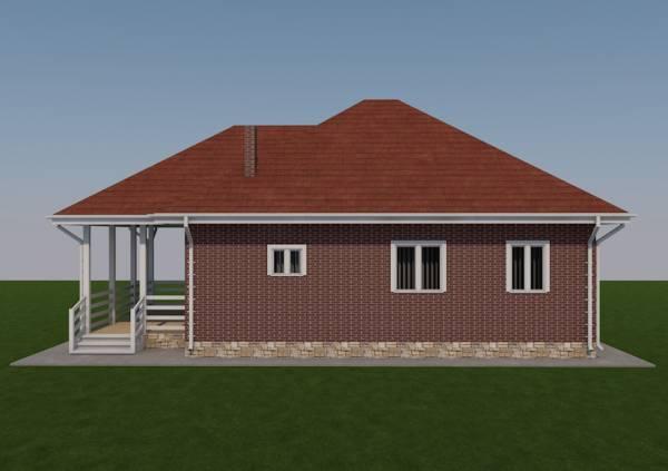 Вид на проект Зарайск с боку дачные дома от СК dmasterov