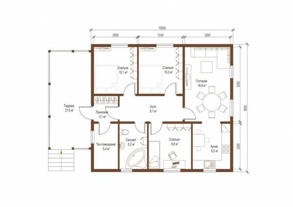 Планировка проекта дачного дома наименование Зарайск