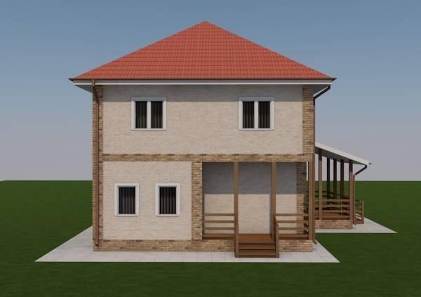 Как выглядит вход в коттедж Ногинск по проекту дома