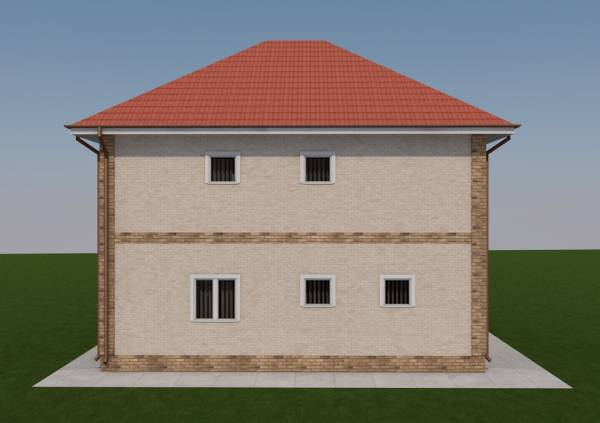 Вид сбоку на коттедж Ногинск проект на сайте dmasterov.ru