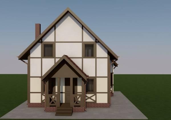 Основной фасад проекта Ступино строительство дачного дома
