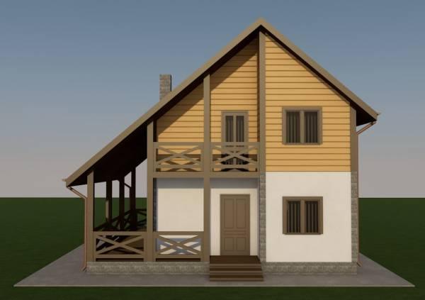 Фасад с балконом по проекту Гаврилов