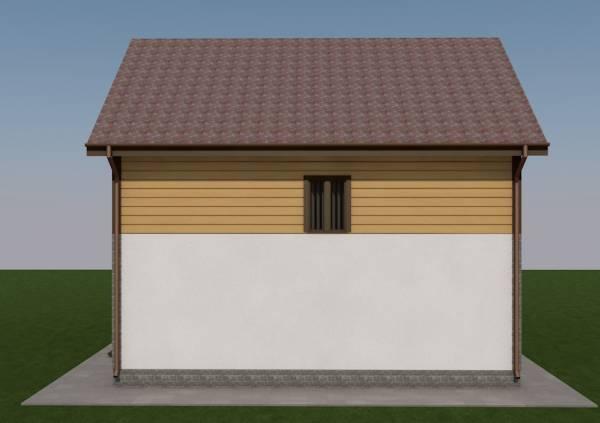 Северный фасад коттеджа проекта Гаврилов