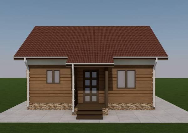 Вид на крыльцо дачного дома по проекту Алабино