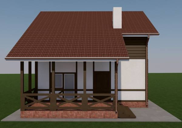 Вид на террасу коттеджа по проекту Барвиха