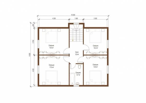 Планировка второго этажа проекта Тверь