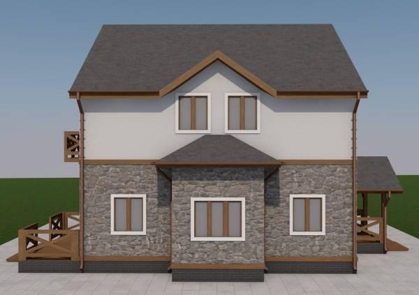 Вид на стену проекта двухэтажного проекта Тула