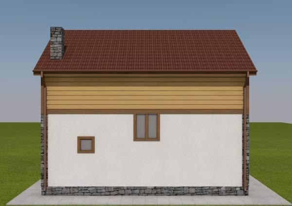 Вид сбоку на двух этажный дачный дом Вологда