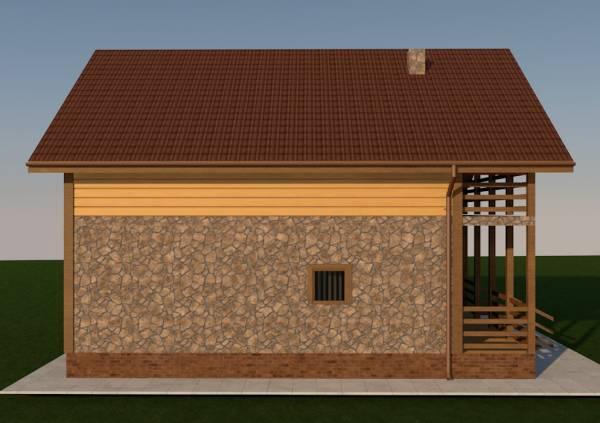 Правый фасад проекта дома Воскресенск