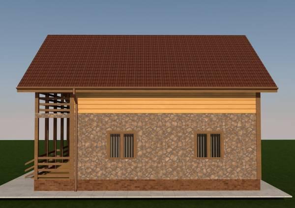 Вид сбоку проекта дома Воскресенск