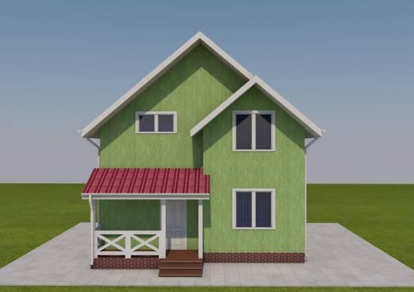 Фасад дачного дома по проекту Дедовск