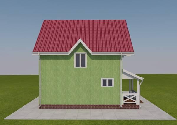 Проект фасада дачного дома Дедовск