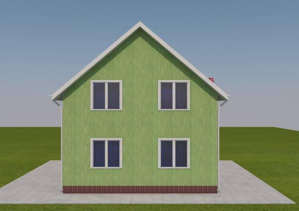 Двух этажный проект дачного дома Дедовск