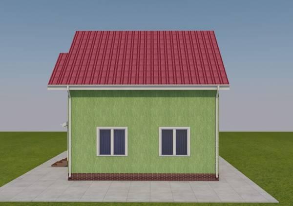 Вид на фасад проекта дачного дома Дедовск