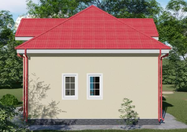 Севреная сторона фасада проекта Луховицы размер 9X11 метр.