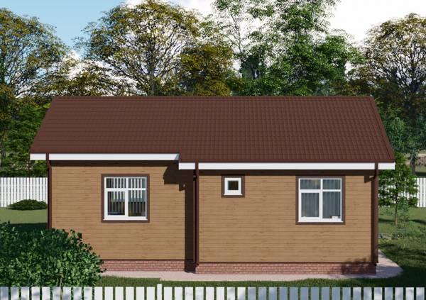 Одноэтажный проект дачного дома Жуковский