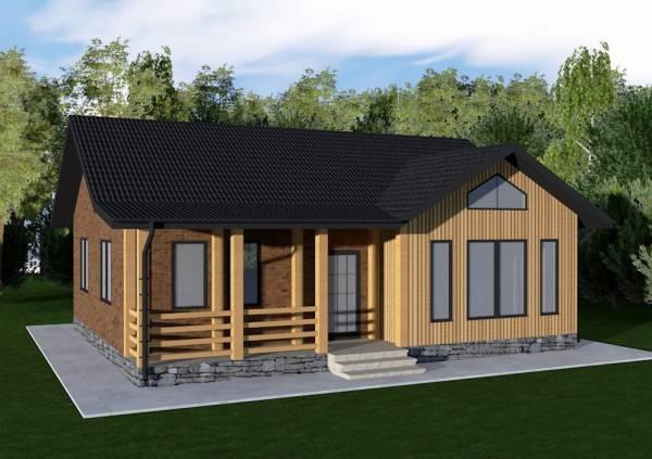 Основной вид дачного дома по проекту Авдеево
