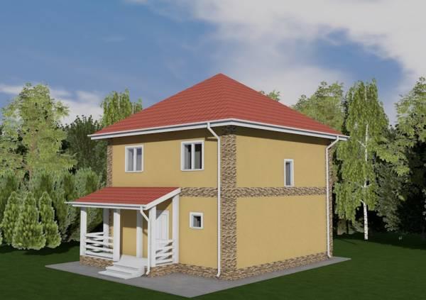 Двух этажный проект коттеджа Раменки
