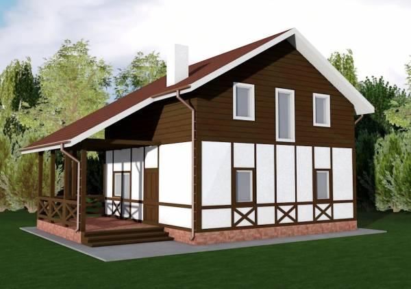 Двухэтажный проект коттеджа Барвиха