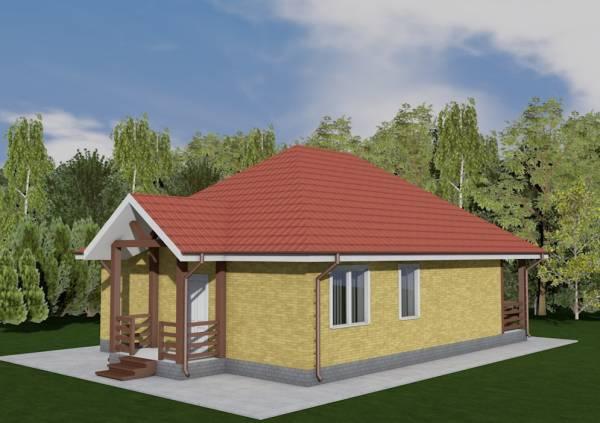 Основной вид дачного дома по проекту Серпухов