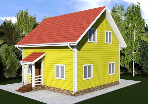 Основной внешний вид дачного двухэтажного дома Борисово