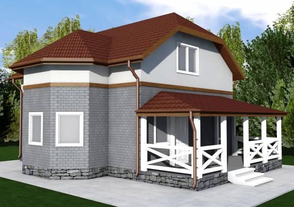 Основной вид проекта коттеджа Рязань строим под ключ