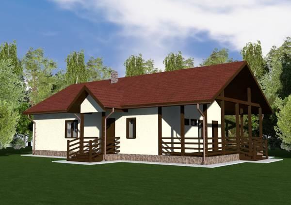 Проект одноэтажного дачного дома Заворово от СК Дом Мастеров