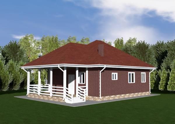 Дачный дом проект Зарайск основной вид