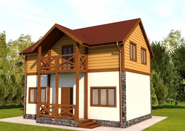Основной вид на проект дачного дома Вологда