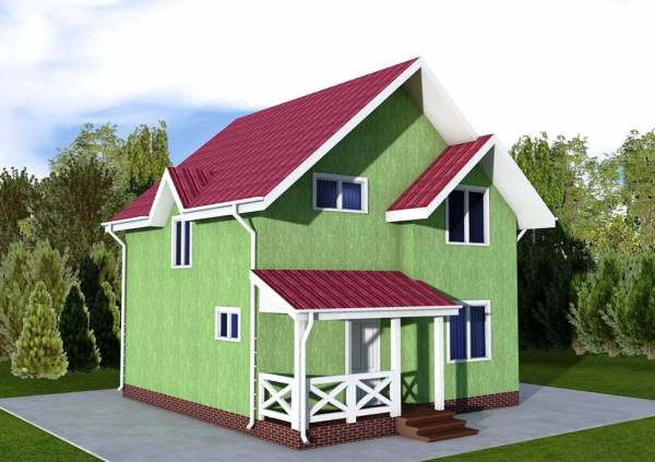Проект дачного двух этажного дома Дедовск